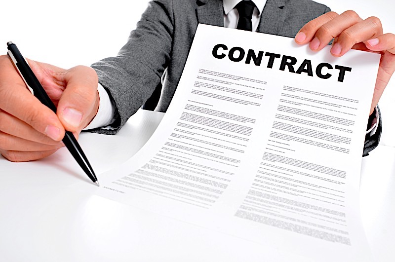 Contract closing table
